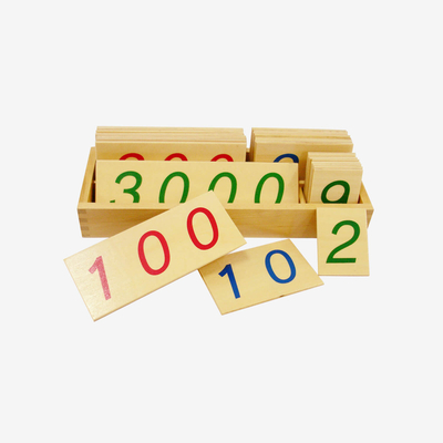Wooden Number Cards: Lager 1-3000